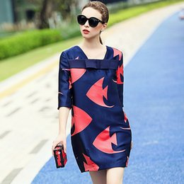 plus size party dresses europe 2019 - spring dress High quality Europe Print Women's Clothing fashion autumn Elegant ladies Loose Dress plus size Party d