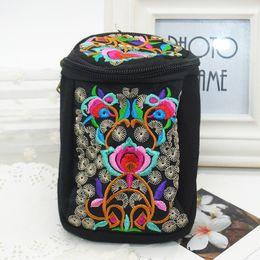 $enCountryForm.capitalKeyWord Australia - Wholesale- New Fashion Embroidered Flower Women Ladies Handbag Mini Messenger Bags for Phone Camera Money Cross Body Bag