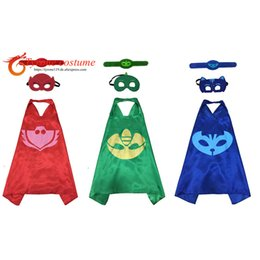 online shopping Hero cape mask Bracelet for birthday party Carnival cape gifts Summer Camp Children day for boy girl cosplay costume