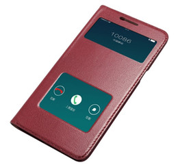Chinese  For OPPO R9 Case Window Ultra-Thin Hard PC Cover Holster Luxury Protective Flip Genuine Leather Case For OPPO R9 manufacturers