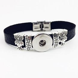 Owl Bracelet Watches NZ - Fashion Hot Sale Special Offer Sterling Jewelry Watch Jewelry Owl Retro Leather Snap Button Bracelet Bt120 (fit 18mm 20mm Snaps) party dress