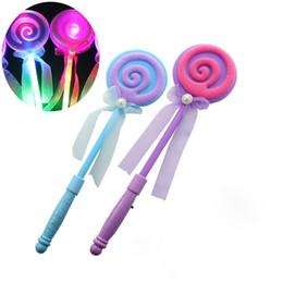 $enCountryForm.capitalKeyWord UK - 34CM Cute Lollipop Ribbons LED Glowing Stick Flashing Light Kids Concert Wedding Birthday Party Decoration By free DHL OTH638