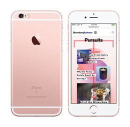 "iphone i6s NZ - iPhone 6S Refurbished Phones Genuine Apple iPhone 6S Cell Phones 16G 64G 128G IOS Rose Gold 4.7"" i6s Smartphone DHL free"