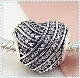 $enCountryForm.capitalKeyWord Australia - 2016 New Spring S925 Sterling Silver Love Lines Charm Bead with Clear Cz Fits European Jewelry Bracelets