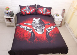 king size pillow cases Canada - 3D Bedding Set Pirate Captain Pattern Twin Queen King Size Home Textiles Duvet Covers Bed Linen Pillow Cases Wholesale Home textile