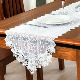 Embroidery Flower Lace Table Runner Vintage Country Rustic Table Runners  Home Party Wedding Decoration JM0200 Smileseller2010