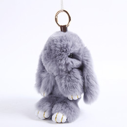 toys for pet rabbits NZ - 2016 Big Dead Rabbits Plush Toy Korean Lazy Play Peluche Bunny Doll Keychain Toys Kawaii Dolls Pets Pendant key chain Gifts For Girl