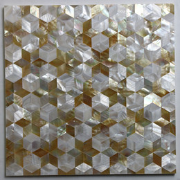 Water Tablets UK - [FREE SHIPPING] Natural color mother of pearl shell Tile , for interior used, MgO board backer, fresh water & Yellowlip shell tile ( MS025)
