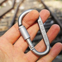 $enCountryForm.capitalKeyWord Canada - 20pcs lot Outdoor Safety Buckle Aluminum Alloy D Shape Climbing Button Carabiner Snap Clip Hook Keychain Keyring Carabiners Camping Hiking