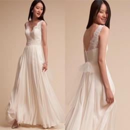 b21d4ea033 Simple A Line Lace Chiffon Bridesmaid Dresses 2017 Summer Beach Garden  Bohemian Weddings Party Evening Gowns Wedding Guest Dresses Plus Size