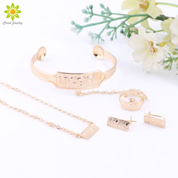 Golds Jewelry For Kids Canada - 2016 New Fashion 'My Girl 'Kid Jewelry Sets Necklace Bangle With Ring Gold Plated Children Jewelry For Girl