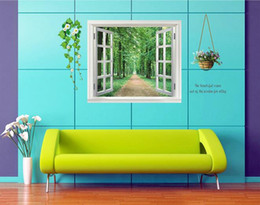 $enCountryForm.capitalKeyWord Canada - 3D trees fake window wall sticker fashion nature color eye care bedroom decoration stereo wall paper