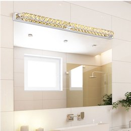 Luxury bathroom lights online shopping luxury bathroom mirrors luxury 100cm long waterproof crystal wall light over mirror 110v 220v 26w led bathroom lamp indoor lampada aloadofball Gallery