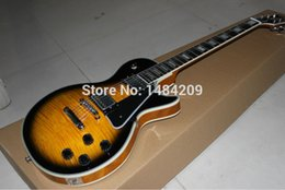 Wholesale Custom shop best selling mahogany electric guitar Awesome sound cherry burst color