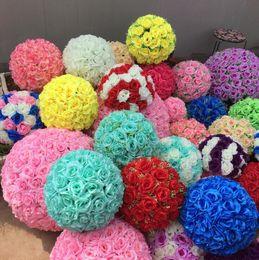 $enCountryForm.capitalKeyWord Canada - 30cm 12inch Elegant Artificial Rose Silk Flower Ball Hanging Kissing Balls For Wedding Party Decoration Supplies Multicolor in stock