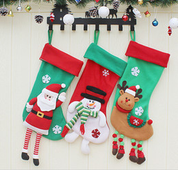 Stuffed Sock Canada - Popular Gifts Christmas Stockings Decor Ornament Party Decorations Santa Christmas Stocking Candy Socks Bags Xmas Gifts Bag DHL wholesale