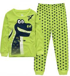 909f4eedd1 dinosaurio Niños Pijama Pijamas de Algodón para Niños Ropa de Dormir de  Dibujos Animados Pijamas de Chicas Siut Camiseta Larga + Pantalones  Primavera ...