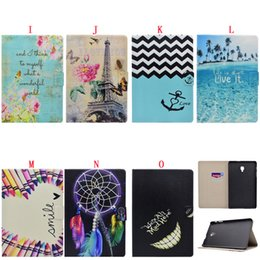 """$enCountryForm.capitalKeyWord Australia - For Samsung Tab A 8.0"""" 2017 T380 T385 Anchor Dreamcatcher Stand Leather Case Flip Flower Wallet Pouch Butterfly Smart Cards Slot Cover 1pcs"""