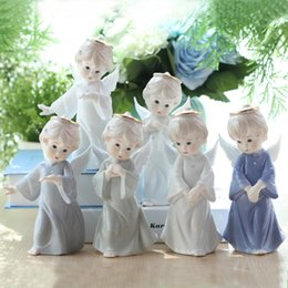Angels Figures Australia - Ceramic Figure Angel Decorations Home Furnishing Ornaments Lovely European Creative wedding Birthday Gift Fast shipping via EUB