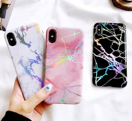 China Superior Quality Rainbow Housing Cover IMD Cases TPU Shell Phone Protection Chrome Marble Grain Case for iPhone X 6 6S 7 8 Plus supplier iphone chrome housing suppliers