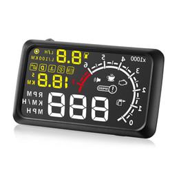 Cars Projects UK - X3 Universal Car HUD Head Up Display KM h MPH Speeding Fuel Warning Windshield Project Alarm System Car Detector OBD Interface