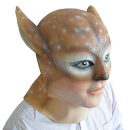 $enCountryForm.capitalKeyWord Canada - Halloween Beauty Demon Deer Latex Mask Creepy Animal Rubber Masks Full Head Sexy Women And Girl Masquerade Costume Party Props Adult Size