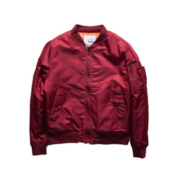 Wholesale varsity jackets resale online - Hip Hop Pilot Jacket Solid Color Big Yards Baseball Uniform Jacket Couple Varsity College Bomber Jacket Men