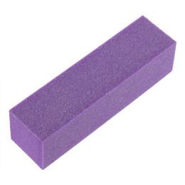 Toptan-FeatheringWomen 10 ADET Nail Art Parlatıcı Zımpara Tampon Blok Dosyaları Akrilik Pedikür Manikür P40 Apr20
