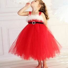 $enCountryForm.capitalKeyWord NZ - INS Girls Dresses red Dress Gauze Lace TUTU Slip Dress christmas Braces skirt Girl's Dresses