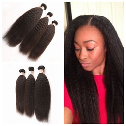 $enCountryForm.capitalKeyWord Canada - Cheap Malaysia Kinky Straight Weave Bundles Malaysian Coarse Yaki Hair Natural Black 3pcs Lot Human Hair Italian Yaki Weave G-EASY