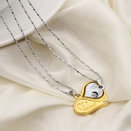 puzzle couple pendants Australia - Necklace with gold and silver heart puzzle pendant, for couples lovers, free shipping and high quality