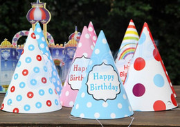 $enCountryForm.capitalKeyWord Canada - baby kid rainbow birthday party hat chlid crown decoration paper cap cartoon pattern festival colorful birthday hat