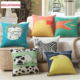 TexTile digiTal prinTing online shopping - Hot sales Luxury Cushion Cover Pillow Case Home Textiles supplies Lumbar Pillow Digital printing animal pillows chair seat
