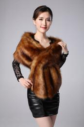 wholesale larga larga de piel de pao gruesa bufanda de piel de imitacin falsa piel de