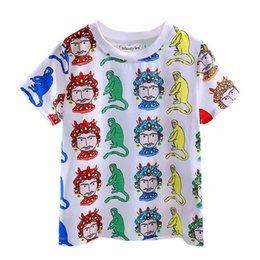 71c45923 Cutestyles 2016 New Style Funny Cartoon T-shirt for Kids Cute Animal Pattern  Print Boys T-shirt Fashion Boys Tops BT90315-9L