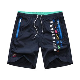 Poches En Gros De Pantalons De Survêtement Pas Cher-Gros-ZILLI Les nouveaux courts métrages pual masculins Summer Beach Shorts Sweatpants de poche de Patch de mode à glissière requin impression en Europe respirante mince