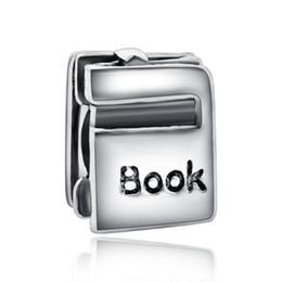 Cuelga el encanto con la carta de libro de bricolaje cuentas adapta europea Pandora joyería pulseras del encanto rompecabezas juego corazón agujero grande