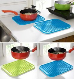 Silicone Table Mats Dish Drying Mat 29.5*23.5CM Rectangle Heat Resistant  Trivet Pads Cutlery Mats 100pcs OOA2623