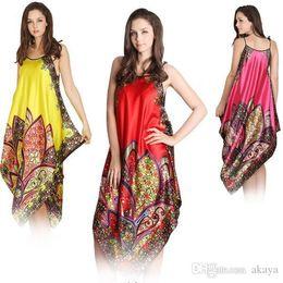 09b59cdefd Sexy Night Dress Nighty Canada - Sexy Women Imitated Silk Sleepwear Robes  Dress Night Skirt Nighty