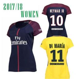 2302ffe0902 MBAPPE Hot Sell Women Thailand Quality 17 18 Soccer Jersey Paris NEYMAR JR  Verratti Lucas Pastore Di Maria 2017-2018 Home Away Football ...