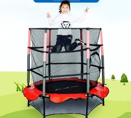 $enCountryForm.capitalKeyWord NZ - Wholesale- Free shipping 55 Inch Folding Trampoline Children Spring Jumping Bed Indoor Baby Bounce Bed With Safety Net Fitness Equipment
