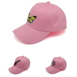 Discount ladies peaked caps Creative Pink Women Snapbacks Adjustable 6 Panel Baseball Cap Fashion Street Lady Visor Sunhat Hip-hop Peaked Caps Femal