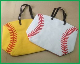 $enCountryForm.capitalKeyWord Canada - Brand New 100% Pure Cotton Canvas Softball Tote Bags Baseball and Football Bags Soccer ball Bag