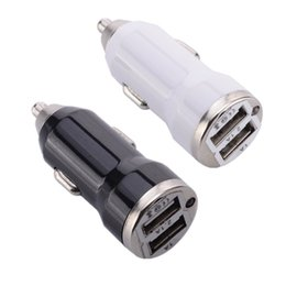 Black BlackBerry car charger online shopping - Car Charger Dual usb ports A A A white Black car charger adapter for iphone for samsung s6 s7 s8 mp3 gps
