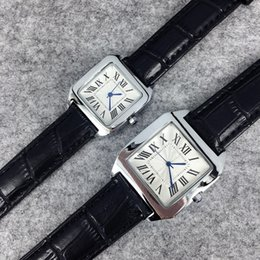 19 chains online shopping - 2017 popula Fashion Style Man Women Leather Watch black brown Lady Watch Steel Bracelet Chain Luxury Quartz Watch high quality