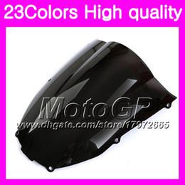 Zx6r Windscreen Australia - 23Colors Windscreen For KAWASAKI NINJA ZX6R 00 01 02 ZX 6R ZX 6 R 00 02 ZX-6R 2000 2001 2002 Chrome Black GPear Smoke Windshield
