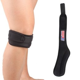 60f026f876 SX540 Adjustable Patella Knee Tendon Strap Protector Guard Support Pad  Belted Sports Knee Brace Black