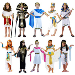 King pharaoh costume online shopping - Eypt Costume Elegant King Queen Pharaoh Clothing Kids Cosplay Halloween Carnival Costumes Fantasia Fancy Dress Party Supplies
