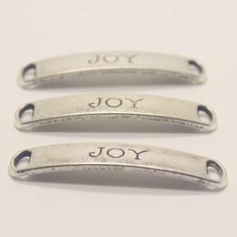 $enCountryForm.capitalKeyWord UK - 15pcs--8X49mm Antique silver tone JOY charms pendant