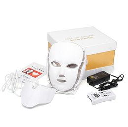 $enCountryForm.capitalKeyWord UK - 2017 Newest!!! 7 LED light Therapy face Beauty Machine LED Facial Neck Mask With Microcurrent for skin whitening device